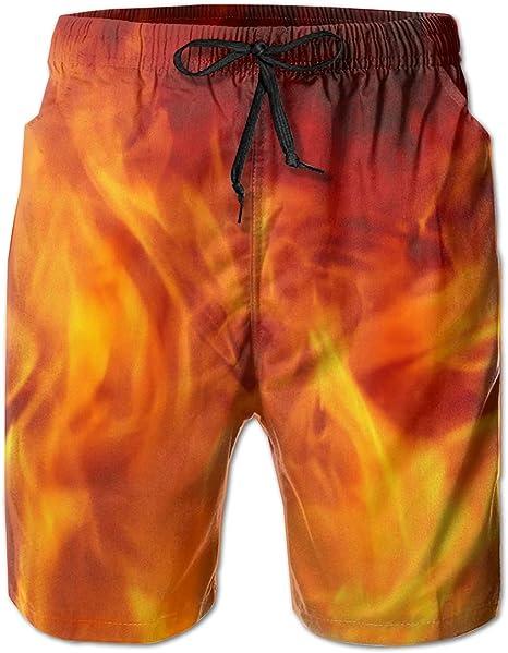 Mens Swim Trunks with Mesh Lining Pockets Doberman Pinscher in Rose Boys Polyester Board Shorts Swimwear