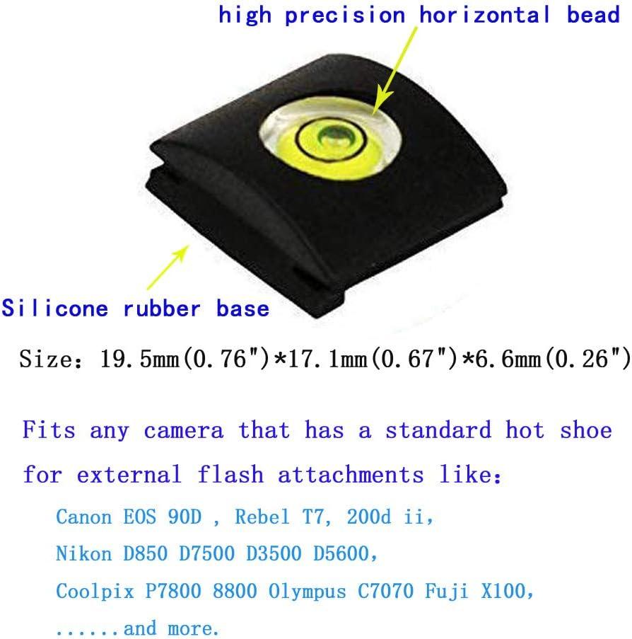 3Pack Canon EOS 90D Camera Level Hot Shoe Level for Nikon D850 D7500 D3500 Rebel T7 200d ii Fire Rock Univeral Flashlight Hot Shoe Cover for Canon Nikon Panasonic Olympus DSLR//SLR//Evil Camera