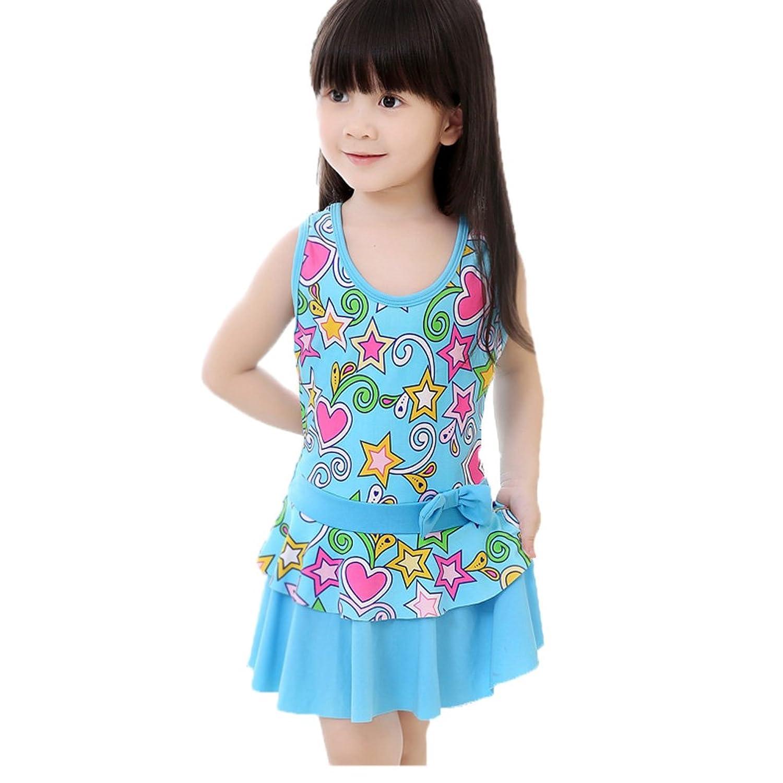 Amazon.com: Korean New Girls Skirt Swimwear One-piece Swimsuit: Clothing