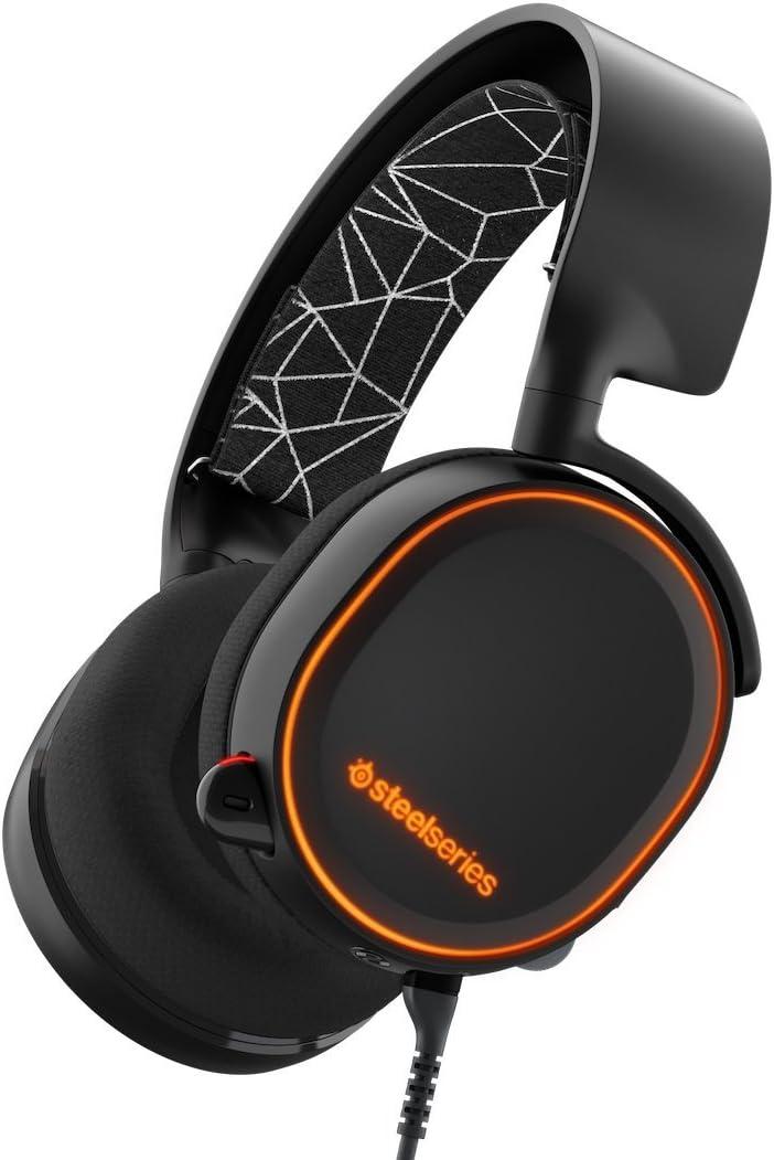 SteelSeries Arctis 5 RGB Illuminated Wireless Gaming Headsets