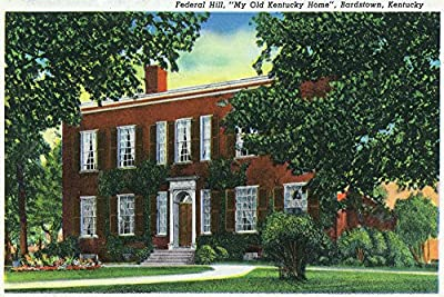 Bardstown, Kentucky - Exterior View of ''My Old Kentucky Home'' on Federal Hill (16x24 Collectible Giclee Gallery Print, Wall Decor Travel Poster)