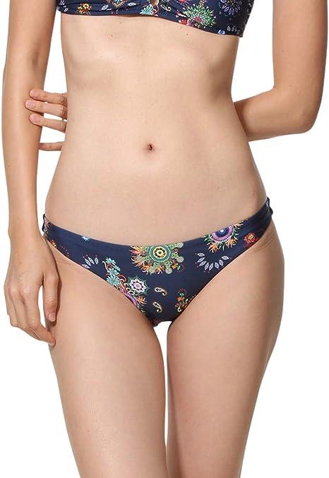 Desigual Swimwear Bandeau REM Woman Blue Tops de bikini para Mujer