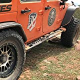 ARIES 2074101 Black Steel Rocker Step Guard Running Boards for Select Jeep Wrangler JK Unlimited