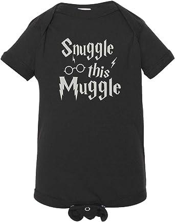 Snuggle This Muggle Baby Grow Funny children kids gift wear cute joke wizard