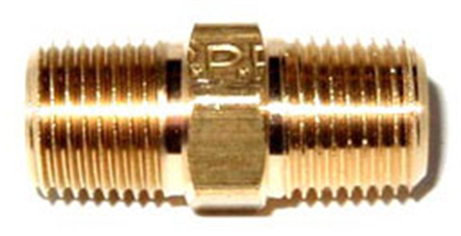 NOS 17500NOS Brass 1//8 NPT to 1//8 NPT Straight Male Pipe Coupler