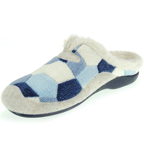 GARZÓN. Zapatilla Invierno Chinela de Casa Nórdico para Mujer - Modelo 7450.237, Color Azul, Talla 41: Amazon.es: Zapatos y complementos