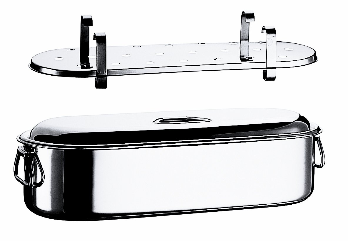Mepra Fish Cooker with Grill And Lid, 45cm