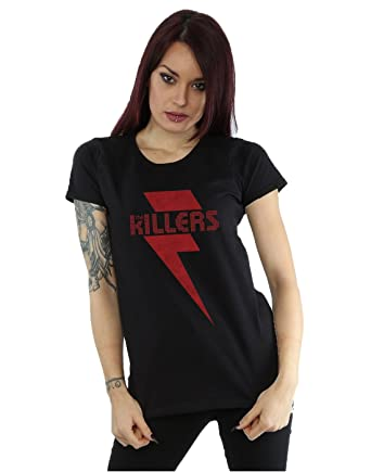 The Killers Women's Red Bolt T-Shirt X-Small Black
