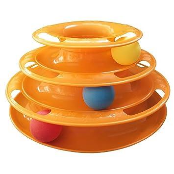 Lispeed - Juguete para Gatos de 3 Capas, con Forma de peonza y Torre de 3 Niveles, para Gatos: Amazon.es: Productos para mascotas