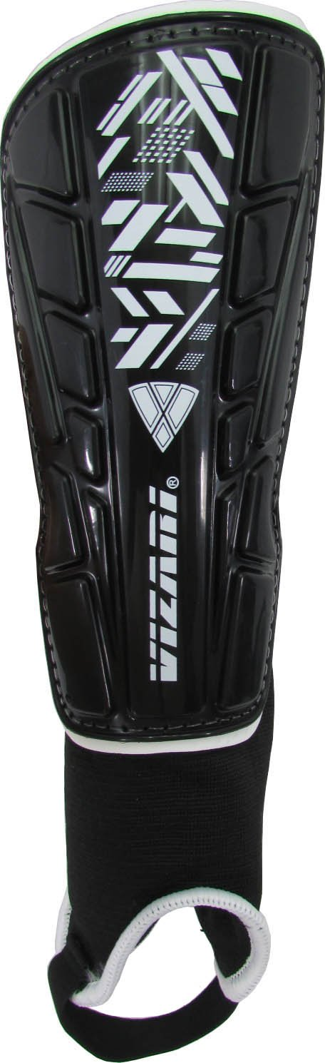Vizari Malaga Shin Guard, Black/White, Medium