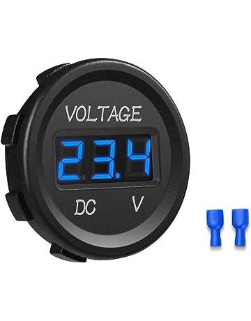 YGL 12-24V Impermeable DC Voltímetro Pantalla Digital Led para Coche Motocicleta Camión Barco (