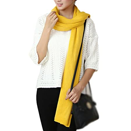 3d2ef5c8c Cdet 1X Scarf Ladies Soft Yellow Long Scarves Wrap Women Stole Men Shawls Clothing  Accessories: Amazon.co.uk: Kitchen & Home