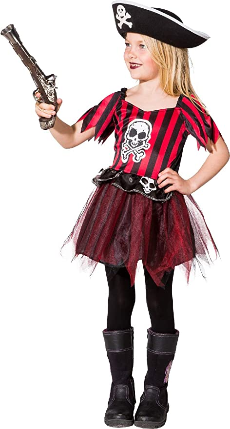Fancy Me Disfraz de Calavera Pirata para niñas con tutú de Siete ...