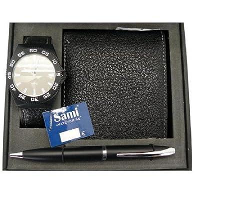 Conjunto de cartera y reloj sami