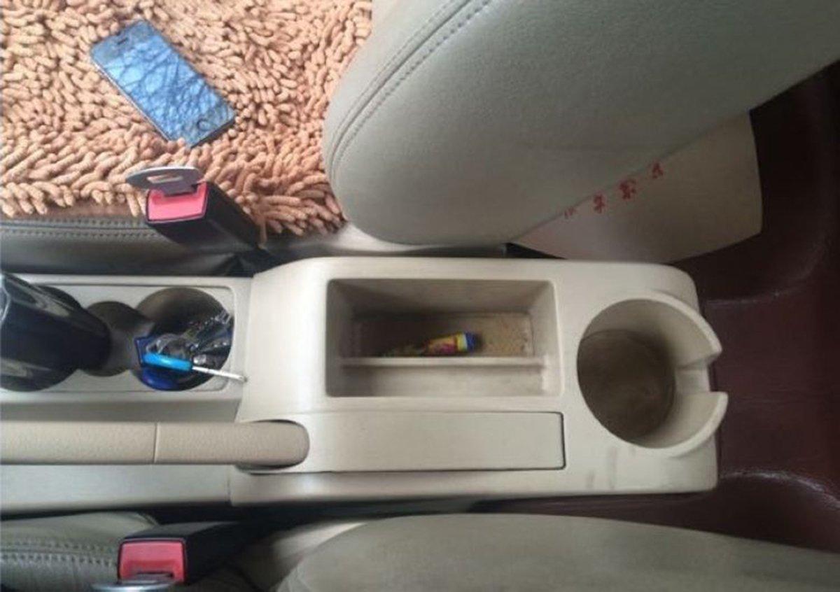 szss-car Leder Auto Mittelkonsole Armlehne Box Armlehnen Aufbewahrungsbox Grau