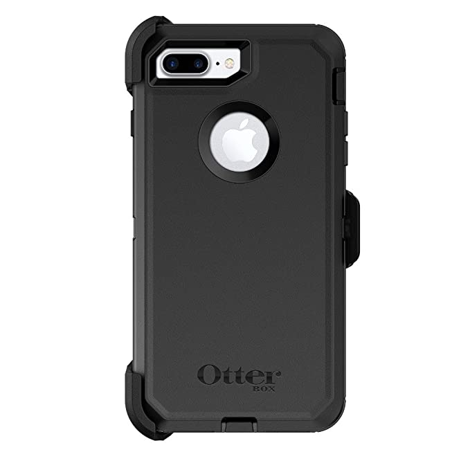 half off ff2a3 c0045 OtterBox Defender Series Case & Holster for Apple iPhone 8 Plus / 7 Plus  (ONLY) - Black (Renewed)
