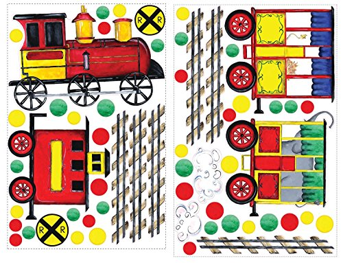 (RoomMates RMK1391SLG All Aboard Peel & Stick Wall Decal MegaPack )