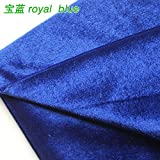 "Velvet Fabric Velour Fabric Pleuche Fabric Tablecloth Table Cover Upholstery Curtain Costume 60"" wide Sold By The Yard (royal blue)"