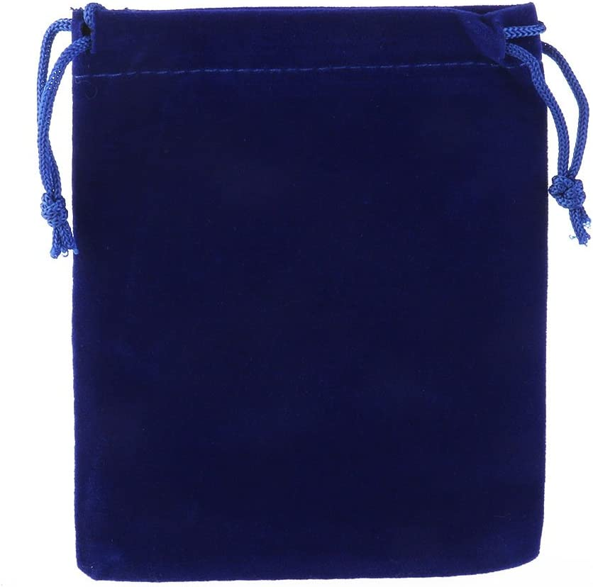 ounona The Gift of the Favour Of The Wedding of the Bow of 10pcs Velvet 9/* 12/cm empaqueta The Jewelry Bag of Candy Bags Navy