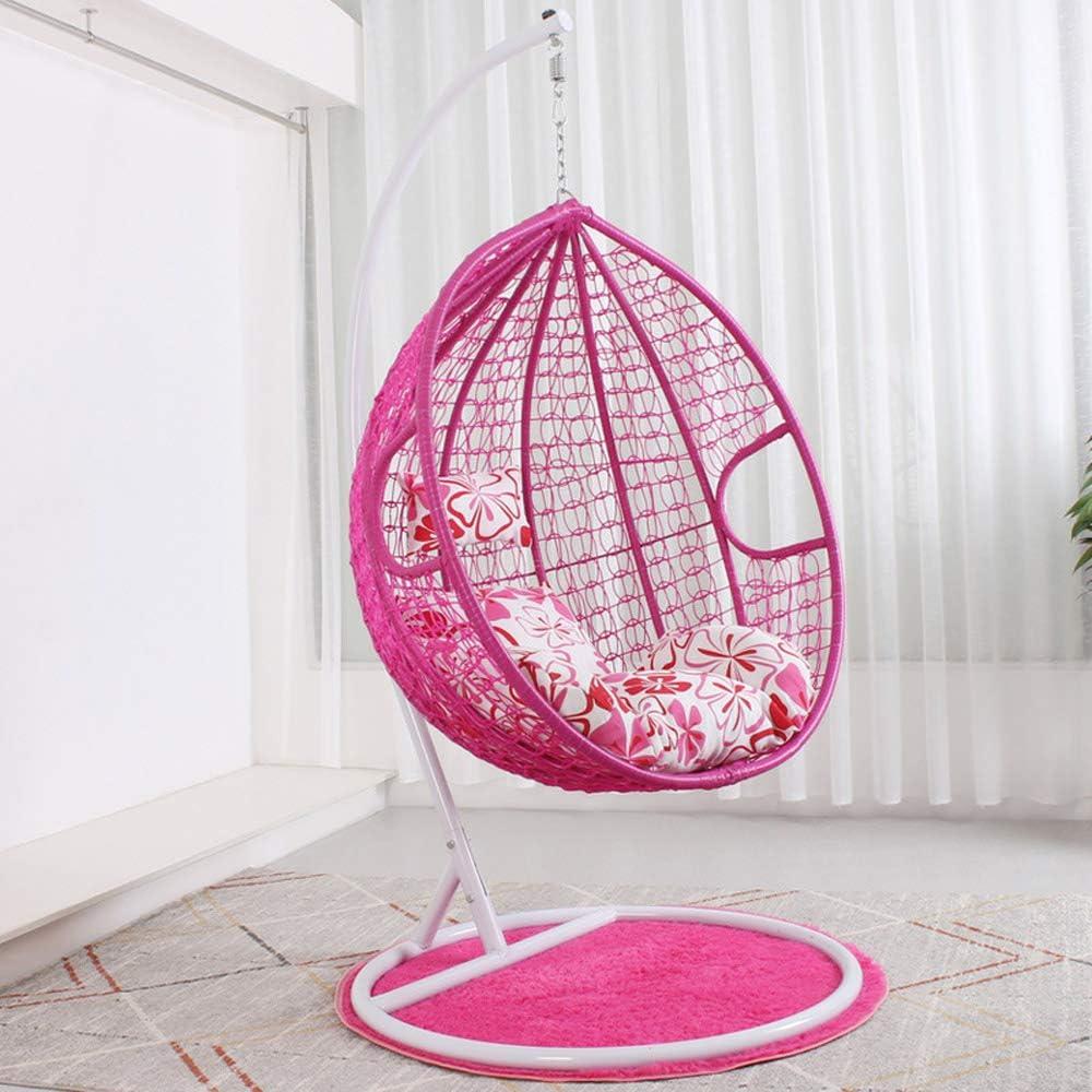 SMGPYHWYP Silla de jardín Colgante de ratán con Columpio Silla de jardín con Soporte, cojín y Funda Interior o Exterior, Capacidad de 150 kg: Amazon.es: Hogar