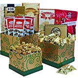 Art of Appreciation Gift Baskets Sweet Success Cookie, Candy and Snacks Gift Tower (Green)