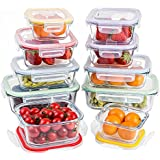 Jalousie 20 Pieces NEW Borosilicate Glass Food Storage Meal Saver Containers with vented Locking Lids BPA Free Airtight Oven Freezer Dishwasher and Microwave Safe Airtight Reusable Food Container Set