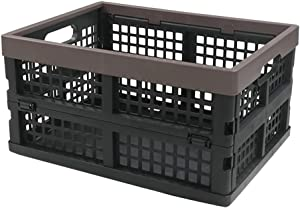 Nicesh Plastic Collapsible Storage Bin/Basket, Set of 2, 15 Quart