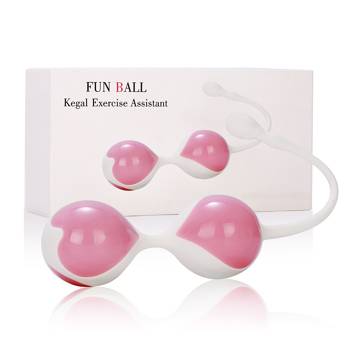 Wote Kegel Ball Exercise Kit Medical silicone Waterproof Bladder control device, Pelvic Exercise Kit for Female