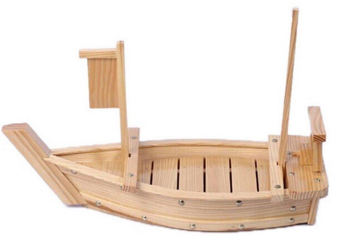 JapanBargain Wooden Sushi Boat Serving Tray