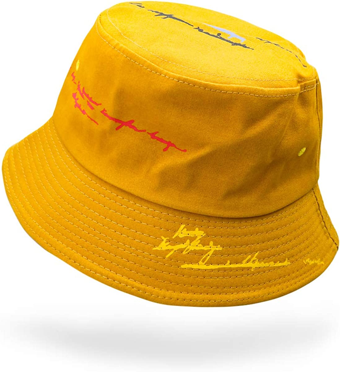 GSUNG Bucket Hat,Unisex 100/% Cotton Packable/Summer Caps Youth hat Size Free Summer Travel Bucket Hat