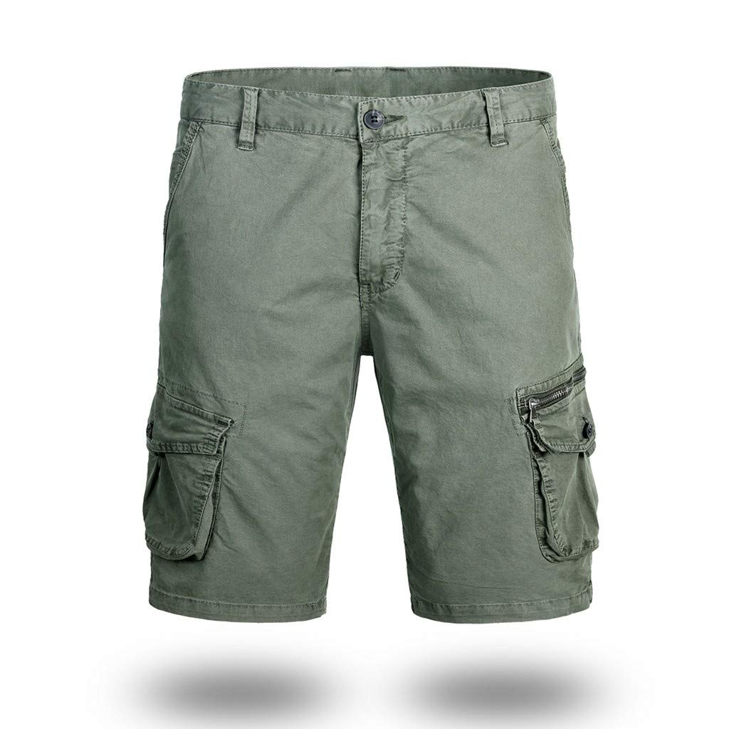 Mens Cargo Shorts,Donci Fashion Pocket Beach Work Casual Short Trouser Loose Comfortable Half Pants by Donci Pants (Image #2)