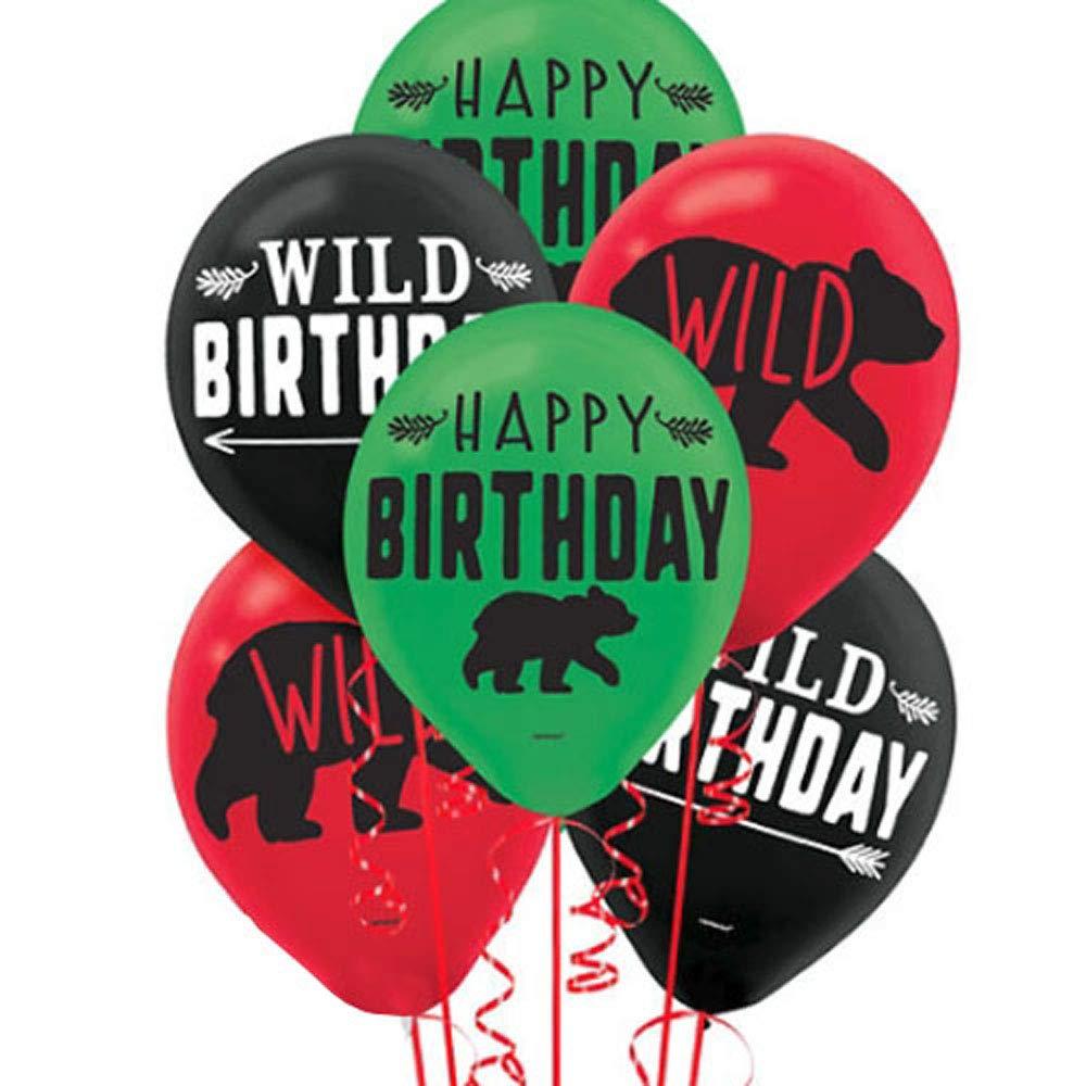 1st Birthday 'Little Lumberjack' Latex Balloons (15ct)