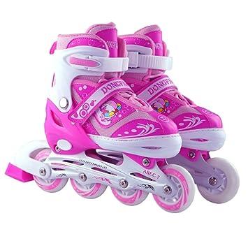 Sunkini Zapatos de patinaje para niños con luz, lo mejor para hombres Mujeres Patines en