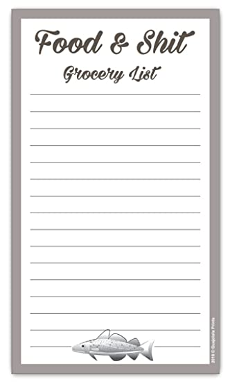 AmazonCom  Food  Shit Grocery List Magnetic Groceries Pad  X