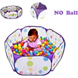 TRAVER DREAM Kids Ball Pit, TD Large Pop Up Toddler Ball Pits Tent Toddlers, Children Indoor Outdoor Baby Playpen Zipper Storage Bag, Balls Not Included