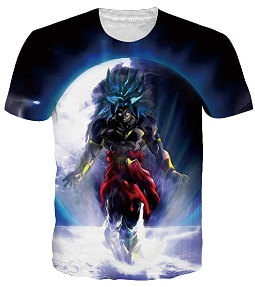 d26a7d99 OPCOLV Mens Dragon Ball z Cartoon T-Shirts Cool Anime Top Shirts Casual  Short Sleeve