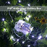 GDEALER 2 Pack 100 Led String Lights Fairy Lights Battery Operated Waterproof Fairy String Lights with Remote Control Timer 8 Modes 33ft Copper Wire Christmas Lights Christmas Decor Cool White