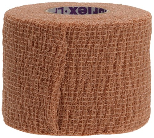 Medline Premium Co-Flex Quick-Stick Cohesive Flexible Elastic Bandage, Self-Adherent Compression Wrap, Latex Free, 2'' x 5 yards, Tan (Pack of 36)