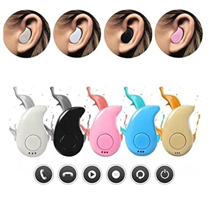 5793a3e02f5 Image Unavailable. Image not available for. Colour: S530 Mini Bluetooth  Earphone Three Holes Wireless Micro ...