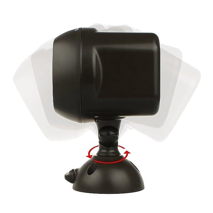 Sensor de movimiento inalámbrico con lámpara, de Sentik®, funciona con pilas, sensor de infrarrojos pasivo para exterior, lámpara de pared de seguridad: ...