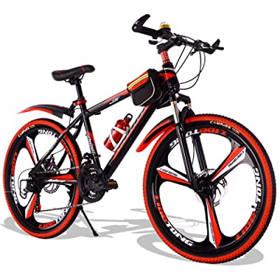 LINGS Foldable Bicycle Kids' Bikes 24-Speed 22-inch Bicycle Mountain Bike Speed Change Male and Female Adult Student Child 8-15 Years Old Teenager Racing Off-Road Vehicle: Home & Kitchen
