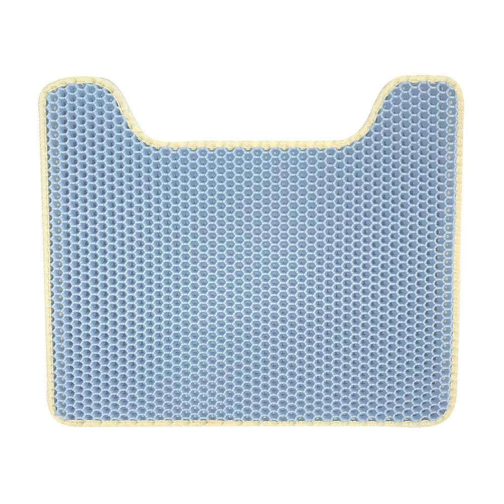 bluee Pet Feeding Mat Cat Toilet Pad Eva Honeycomb Cat Litter Box Mat Double Layer Filter Mat Foldable Non-Slip Washable Predect Floor,bluee
