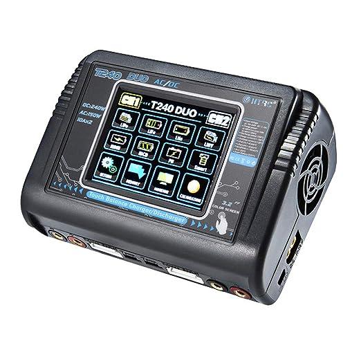 HTRC Pantalla táctil Dual Channel RC Auto Lipo batería 1 ...