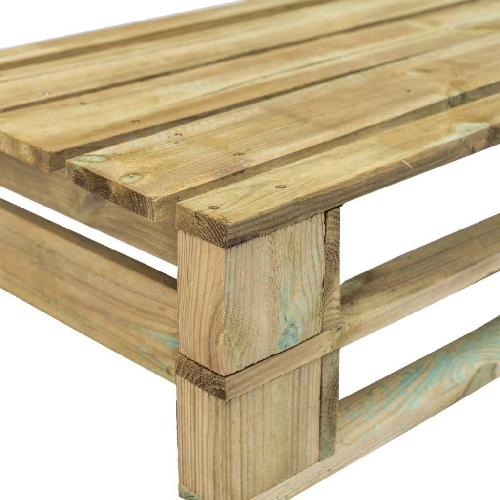 BBalm Divano da giardino in legno di pino con cuscino grigio
