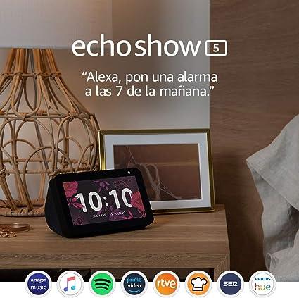 Echo Show 5: mantén el contacto con la ayuda de Alexa, negro ...
