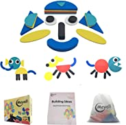 MEYALL Wooden Pattern Block Sets Animals Jigsaw Puzzle Shapes, Sorting and Stacking Game, Early Educational Toys Gift for Pre