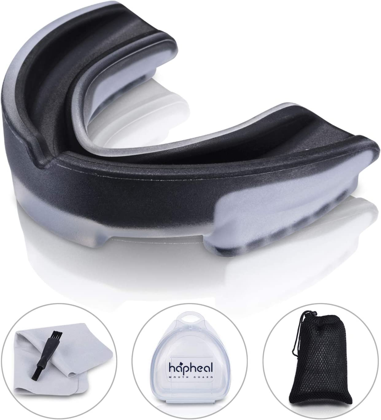 haphealsport 2020 New Mouth Guard Sports,3-Layers Reinforced Mouthguards for Sports, Gum Shield for Boxing,Basketball,Lacrosse