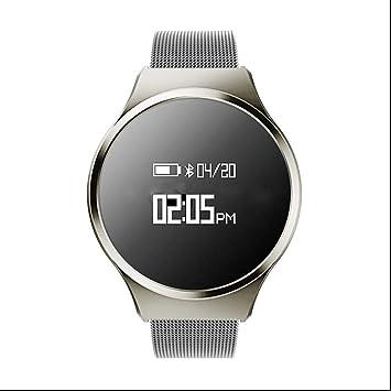 Smart Pulsera presión arterial/Tensiómetro saturación de oxígeno/Pulsómetro Fitness Tracker Touchpad brazalete deportivo banda para Android IOS: Amazon.es: ...