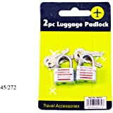 2 x TRAVEL LUGGAGE PADLOCKS - 20mm FREE DELIVERY