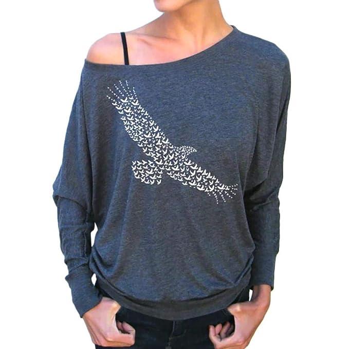 c9f7fc69056330 Styledresser Giacche da Donna,T Shirt Donna Tumblr Corte,Camicetta Casual da  Donna con Stampa Autunnale A Maniche Lunghe: Amazon.it: Abbigliamento